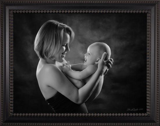 glover baby portrait mother